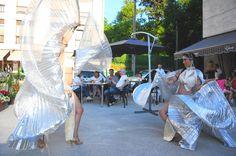 Katia Setien. Divarts danza y fuego en Epoca Cafe Lounge, Limpias