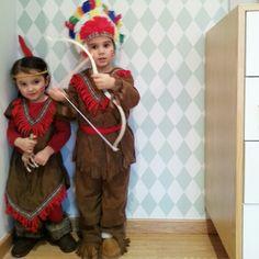 Little indians carnival. Disfraz de indio e india