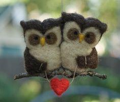 love owls #needlefelt