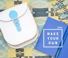Handmade British colourful leather satchels & bags - Brit Stitch