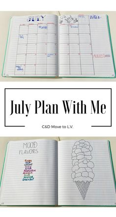 July 2017 Bullet Journal Plan with Me | C&D Move to L.V. | Beach and 4th of July Theme