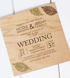 wooden wedding invitations06 Wooden Wedding Invitations From Poppiseed Designs