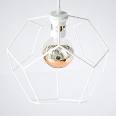 Dodeca Pendant Light designed by modern lighting studio DeVignCo. Modern Pendant Light, Pendant Lighting, Ceiling Canopy, Ceiling Lights, Electrical Components, Wall Plug, Diamond Pendant, Modern Lighting, 3d Printing