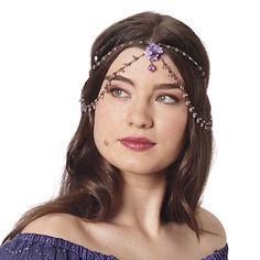 Forget-Me-Not Hair Braid - Women's Clothing & Symbolic Jewelry – Sexy, Fantasy, Romantic Fashions | Front