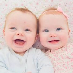 Redheaded blue eyed twins!  These have got to be the cutest twins I have ever seen!  Even cuter than my grandbabies....but don't tell their mom!