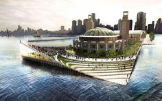 AECOM + BIGは垂直ファーム、ルーフガーデンでシカゴのネイビーピアを刷新する計画を発表| Inhabitat - グリーンデザイン、イノベーション、建築、グリーンビルディング