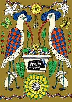 Im Auftrag von Saatchi & Saatchi entstanden diese Illustrationen von Maja Sten für eine Joghurt-Kampagne, die rasch viele Fans fand