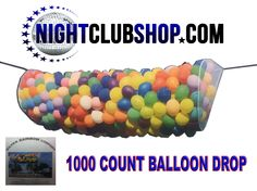 NightclubShop.com - BALLOON DROP NET KIT, $25.99 (http://www.nightclubshop.com/balloon-drop-net-kit/)