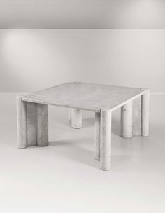f4af7a2314 Gae Aulenti, Carrara marble customized Jumbo Coffee Table. Produced by  Knoll International, Italy