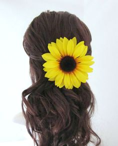 5 Sunflower Hair Clip Choice of Attachment by TheVelvetBegonia