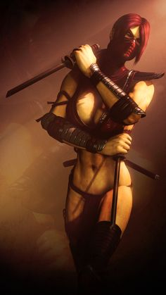 Skarlet, Mortal Kombat series artwork by Urbanator.