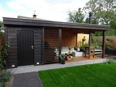 Backyard Cabin, Backyard Pavilion, Backyard Sheds, Garden Lodge, Garden Cabins, Outdoor Patio Designs, Outdoor Landscaping, Modern Pool House, Outdoor Garden Rooms