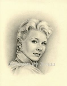 Doris Day by rondawest {from USA} ~ pencil portrait
