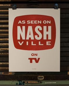 As+Seen+on+Nashville+on+TV++commemorative+poster+by+isleofprinting,+$20.00