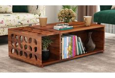 Buy Ziegler Coffee Table (Honey Finish) Online in India - Wooden Street