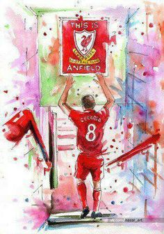 This Is Anfield! 💓💓 Steven Gerrard The Legend Steven Gerrard Liverpool, Liverpool Captain, Liverpool Legends, Liverpool Players, Liverpool Football Club, Liverpool Fc Wallpaper, Lfc Wallpaper, Football Art, College Football