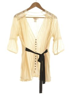 Gauze and Effect Top, $54.99