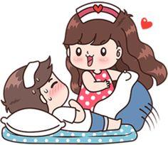 Gud mrng Jaan 😚have a happy sunday❤love u Tiku 💋❤ Cute Chibi Couple, Love Cartoon Couple, Cute Couple Art, Cute Cartoon Girl, Cute Love Pictures, Cute Cartoon Pictures, Cute Love Gif, Cartoon Pics, Gif Lindos