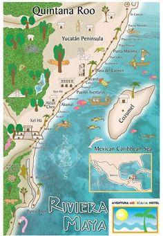 Qué Visitar en la Riviera Maya - Pueblos y Ciudades                                                                                                                                                                                 Más