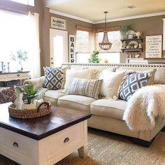 Rustic Farmhouse Living Room Design Decor Ideas38