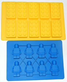 Amazon.com: Building Bricks and Minifigure Ice Cube Tray or Candy Mold --for Lego lovers: Kitchen & Dining