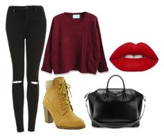 """""""winter is comming"""" by barbara-gonoss19 on Polyvore featuring Topshop, WithChic, Givenchy and Lime Crime"""