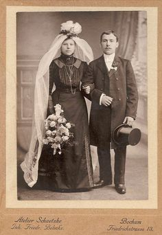 Brautpaar, Deutschland Bridal Couple Germany, 1880.