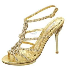 Celeste Joyce-09 Gold Metallic Evening Double Platform Sandals - Round Toe Classic Pumps Clubbing Wedding Prom Fashion Style Bridal Interview Work Graduation $36.80