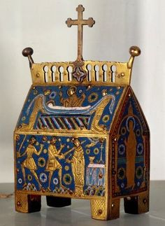 Reliquary of Thomas Becket, 13th century, copper and enamel.