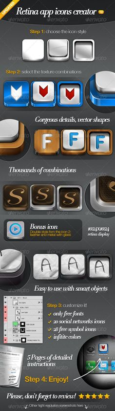 Retina App Icons Creator — Photoshop PSD #paper #retina • Available here → https://graphicriver.net/item/retina-app-icons-creator/2478159?ref=pxcr