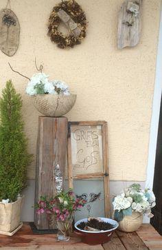 Blumen und Fenster