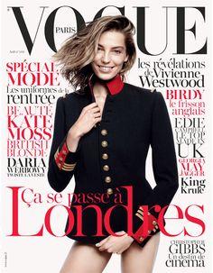 Le numéro d'août 2013 de Vogue Paris spécial Londres http://www.vogue.fr/mode/news-mode/articles/le-numero-d-aout-2013-de-vogue-paris-ca-c-est-londres-daria-werbowy-par-david-sims/19761