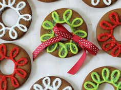 Gingerbread Cookie Rings  - CountryLiving.com