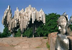 Sibelius Monument by Eila Hiltunen, 1967 Helsinki, Finland. To apply steel into sculpture was the pioneering task for her. Miniature model from 1964 is located in Unesco Heaquarters in Paris, details of the monument itself are on the square of United Nations Building in New York.