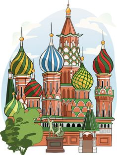 View top quality illustrations of Saint Basils Cathedral Russia. Find premium, high-resolution illustrative art at Getty Images. Drawing For Kids, Art For Kids, St Basil's, Train Pictures, Thinking Day, Russian Art, Free Illustrations, Cute Illustration, Islamic Art