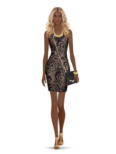 Styled with: United Nude, Twenty, Be & D, Karen London, Rachel Zoe Create your own look with Covet Fashion Little Black Dress Outfit, Black Dress Outfits, Covet Fashion Games, Fashion Art, Fashion Sketches, Fashion Drawings, Fashion Illustrations, Poses, Barbie Dress
