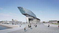 Nieuw havenhuis in opbouw.