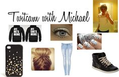 """Twitcam with Michael"" by caitlynroseofficial ❤ liked on Polyvore"