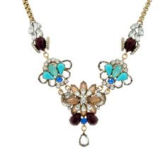 Let your style take flight with this antiqued goldtone floral and bee necklace from LOGO Links by Lori Goldstein. QVC.com