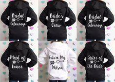9 Bachelorette Sweatshirt Jackets. 9 by BrideAndEntourage on Etsy