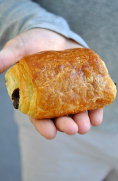 Pain au Chocolat!! My uncle would get them fresh every morning so I could eat them for breakfast!!