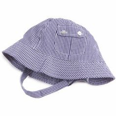 This Great Gingham Sun Hat for Baby and Toddler Boys from www.Melondipity.com is brand new to help your little guy look sweet and preppy this summer.  This 100% cotton ultra lightweight material keeps him looking and feeling cool this summer while being sun protected at the same time.  This dark blue and white gingham checkers goes so well with so many different outfits and colors. Pair this hat with a white polo and denim and your baby boy will look so preppy and adorable! This hat has a…