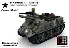LEGO Custom WW2 M7 Priest Tank Panzer BA2