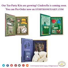 Storybookteakit.com is growing with new Tea Party Kits. Order Alice in Wonderland and Wizard of OZ and Pre-Order Cinderella for all occasions. #AliceinWonderland #WizardofOZ #Cinderella  #Tea #TeaPartyKit #Kids #Fans #Preorder #Order #Products #Birthdays #Christmas #Holidays #Party #Gifts #GiftIdeas #TreasureKeepsakes #PartyFavors #Favors #Childhood #MakeMemories #Toddler #Cookies #Theme