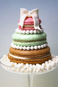 Oversized Macaron Wedding Cake! ~ we ❤ this! moncheribridals.com #weddingcakes