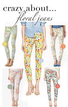 Adorable floral jeans
