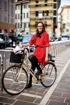 I love riding in a dress and tights – so sweet, so liberating