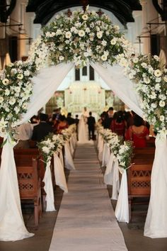 Wedding Flower Decoration flowers bouquets aisle decor for church wedding, flowers wedding arches, rustic wedding photos Rustic Wedding Photos, Wedding Arch Rustic, Wedding Ceremony Decorations, Church Decorations, Wedding Arches, Wedding Ideas, Wedding Themes, Wedding Planning, Wedding Entrance