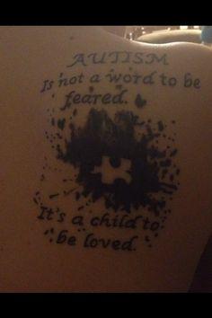 Autism Tattoo from Stephanie