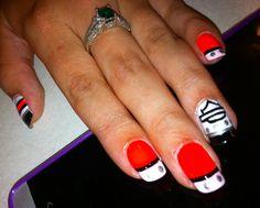 Painted nail designs/ Harley Davidson
